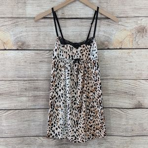 {Betsey Johnson} leopard print chemise